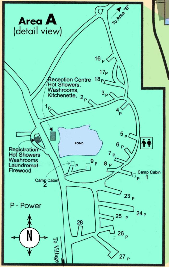 Map of Campground area A