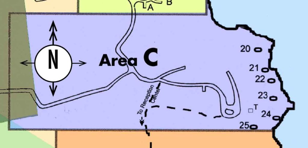 Map of Campground area C