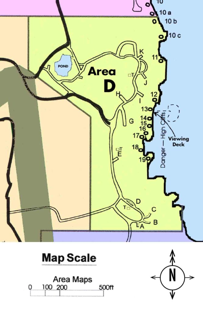 Map of Campground area D