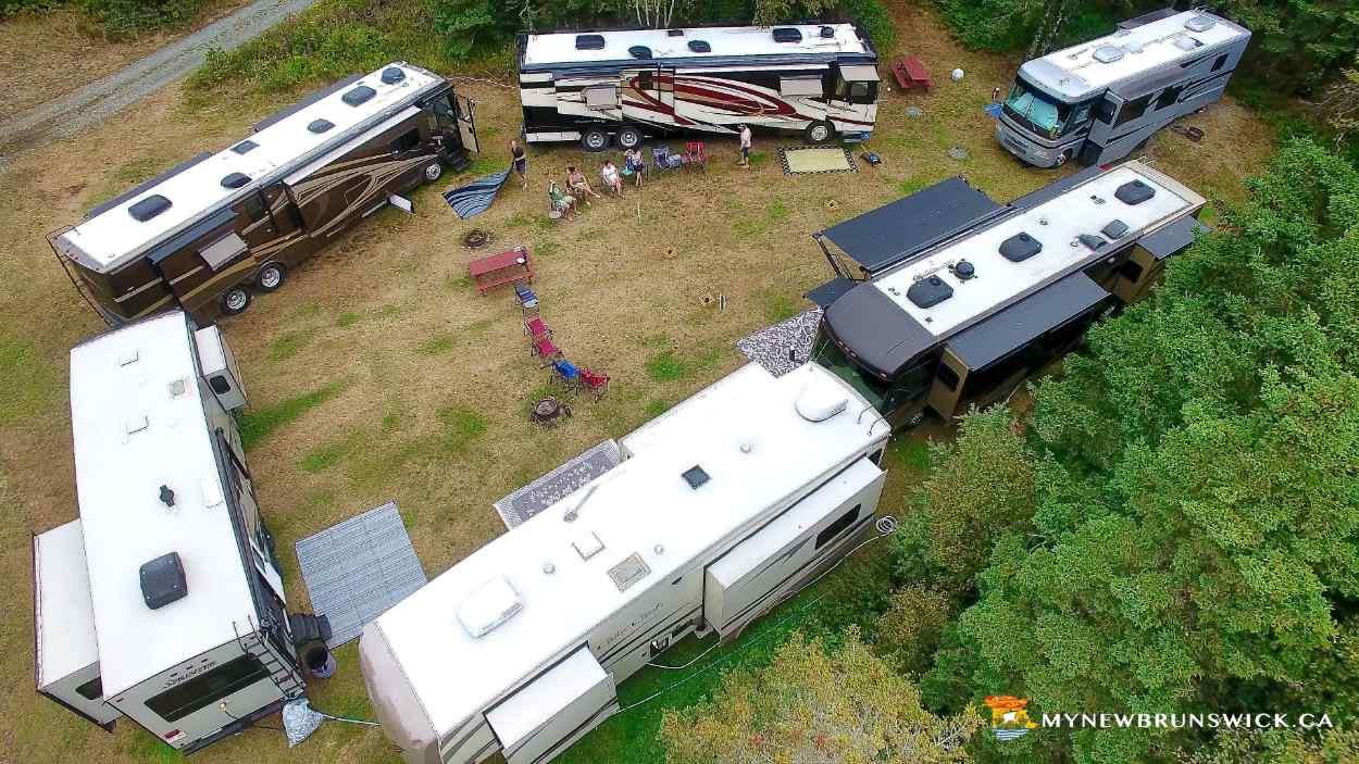 Camping caravans at North Head Campground and Park | photo © MyNewBrunswick.ca
