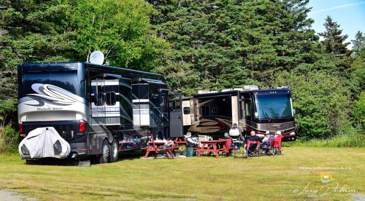 Camping caravan at North Head Campground & Park | photo © Larry Dickinson, MyNewBrunswick.ca